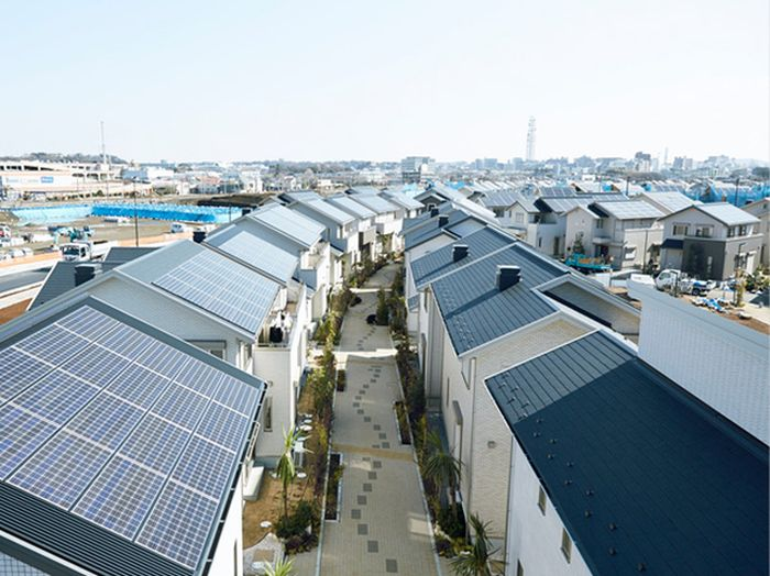 منازل ب خلايا شمسية في اليابان