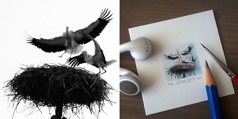 فنانة تحول صور عشوائية من انستقرام إلى لوحات مصغرة