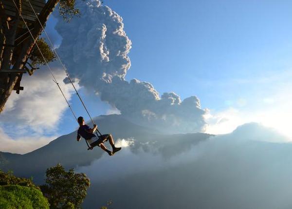 أرجوحة نهاية العالم في الإكوادور صور منوعة