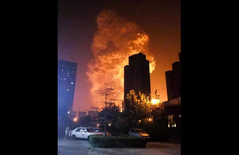 نيران الانفجارات بالصين
