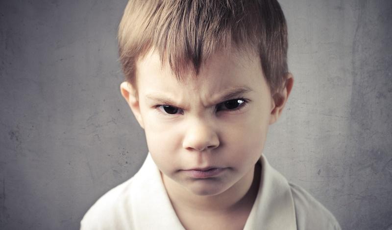 طفل غاضب