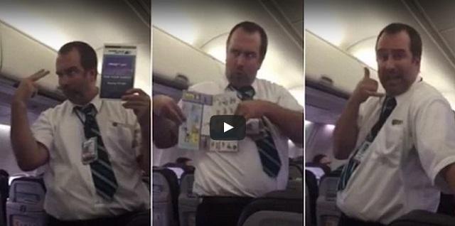 فيديو مضيف طيران