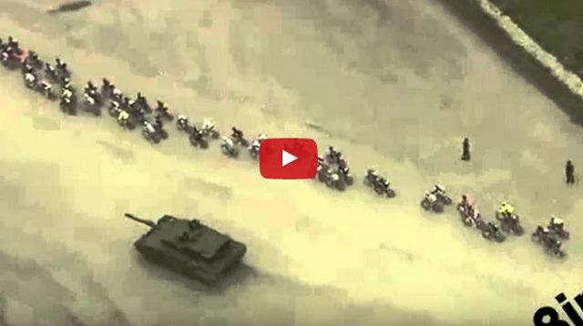 فيديو دبابة بسباق