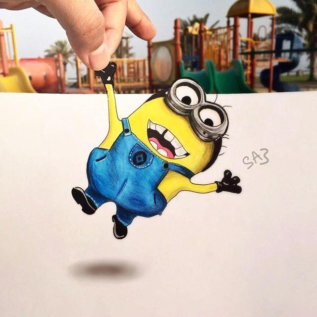 صالح أحمد يبدع في رسم شخصيات الكرتون بأسلوب تفاعلي