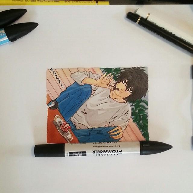 رسم شخصيات أنمي ديث نوت
