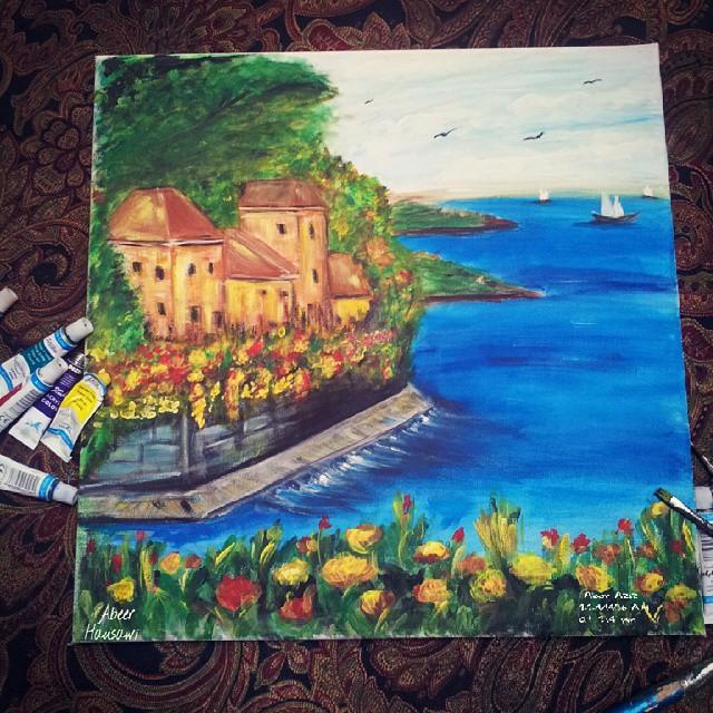 لوحات طبيعية مرسومة بالألوان المائية
