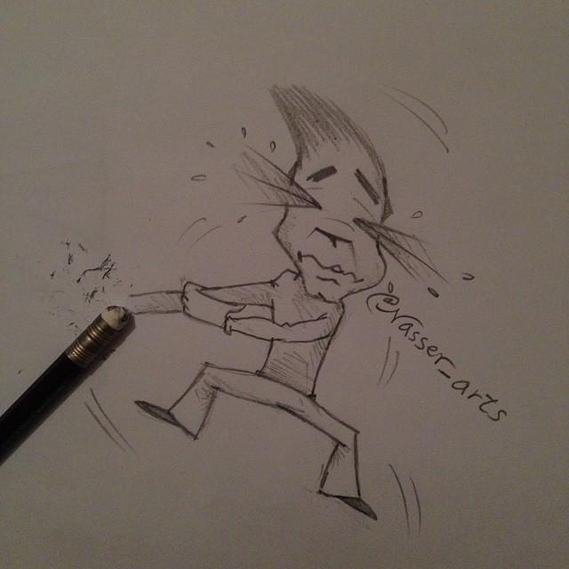 رسم تفاعلي بقلم الرصاص