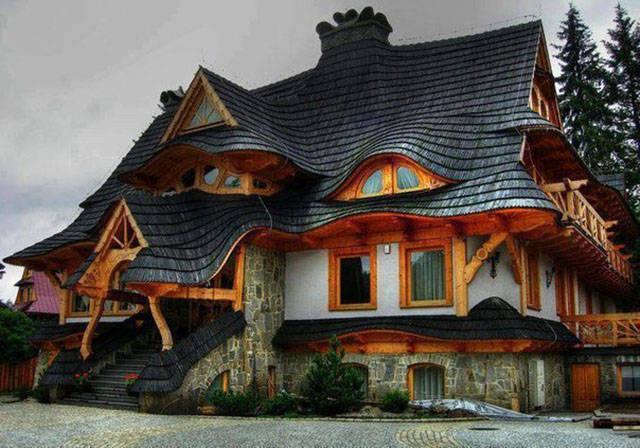 صورة منزل غريب