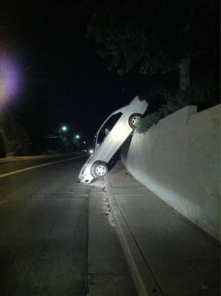 حادث سيارة في الليل