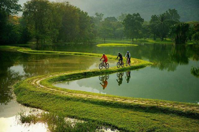 صور ركوب الدراجات الهوائية في الطبيعة