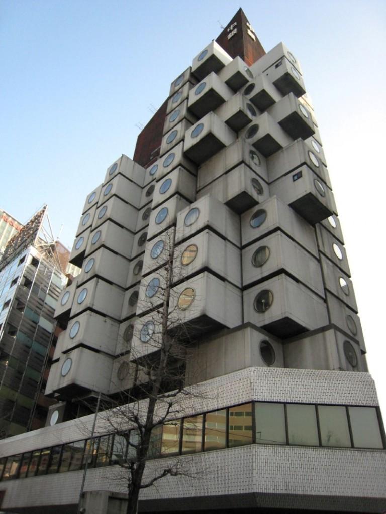 """برج الكبسولة """"Nakagin """"، طوكيو"""