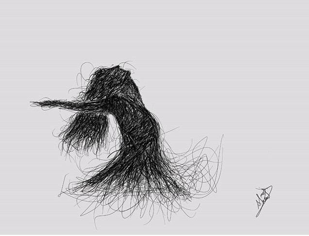 فن الخطوط العشوائية
