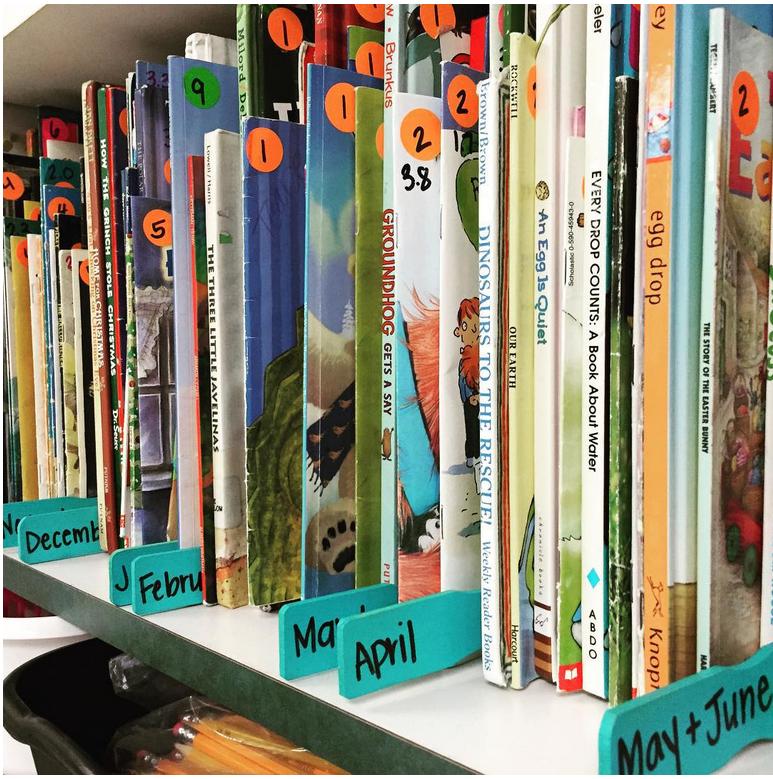 تزين مكتبة المدرسة