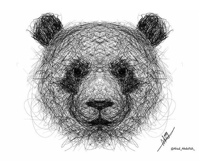 رسومات فنية مكونة من خطوط عشوائية