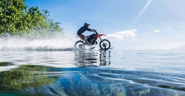 bike on water