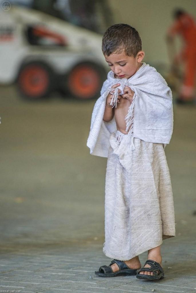 أطفال برفقة الحجاج