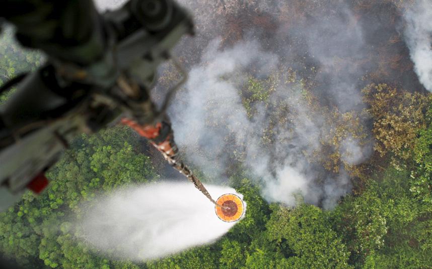 إطفاء حريق مزرعة
