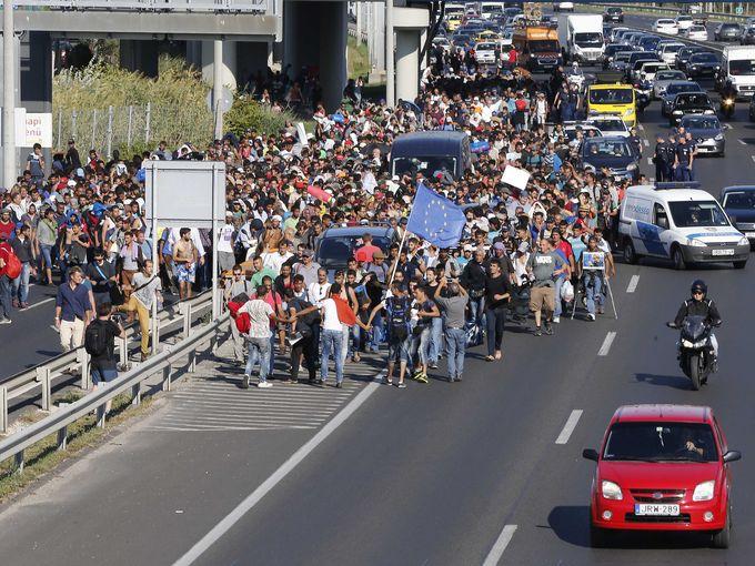 مظاهرة مهاجرين