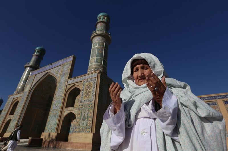 مسنة أفغانية