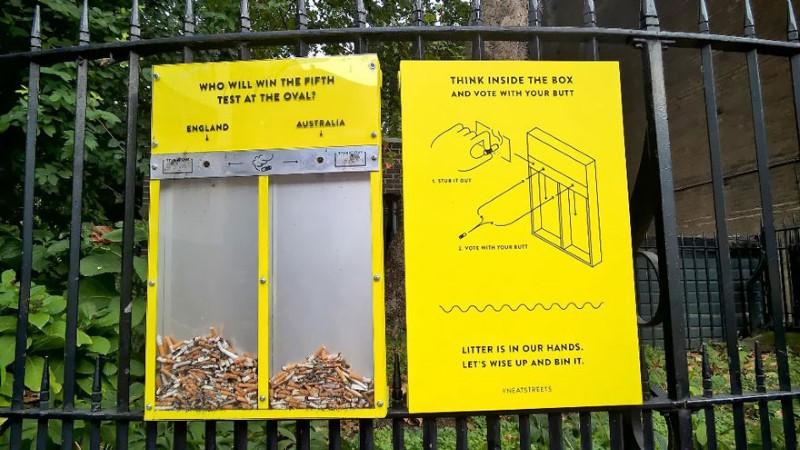 التخلص من السجائر في لندن