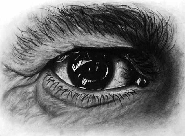 رسم عيون جميل