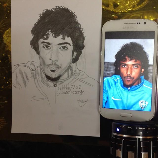 رسم ياسر الشهراني