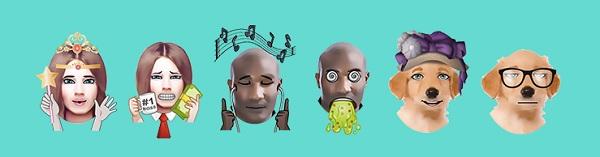 الوجه إلى رموز تعبيرية