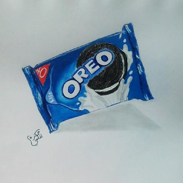 رسم شوكولاته أوريو