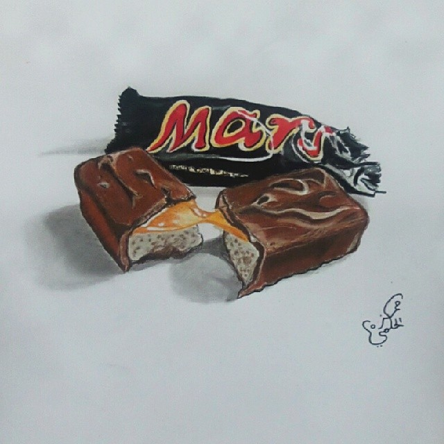رسم شوكولاته مارس