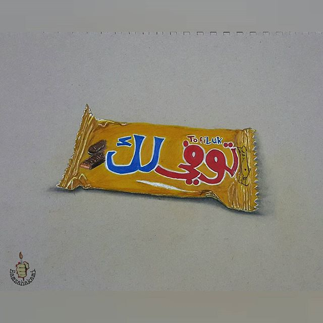 رسم شوكولاته واقعي