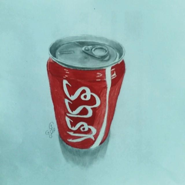 رسم مشروب كوكاكولا