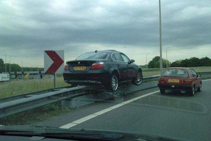 حادث سيارات مضحك