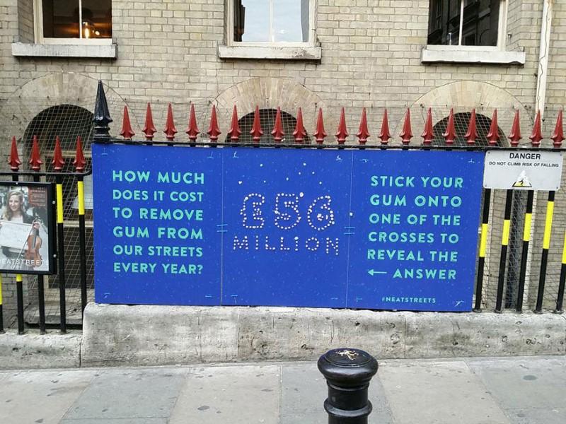 التخلص من العلكة في لندن