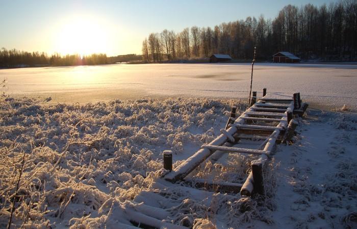 الثلج وأشعة الشمس