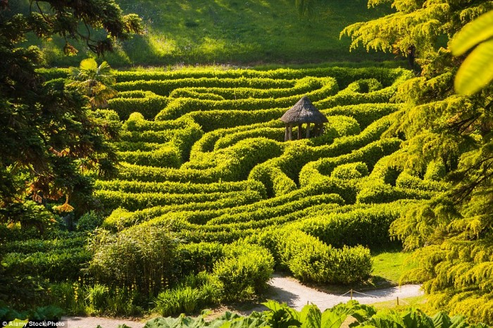 حديقة جليندورجان ، كورنوال، إنجلترا