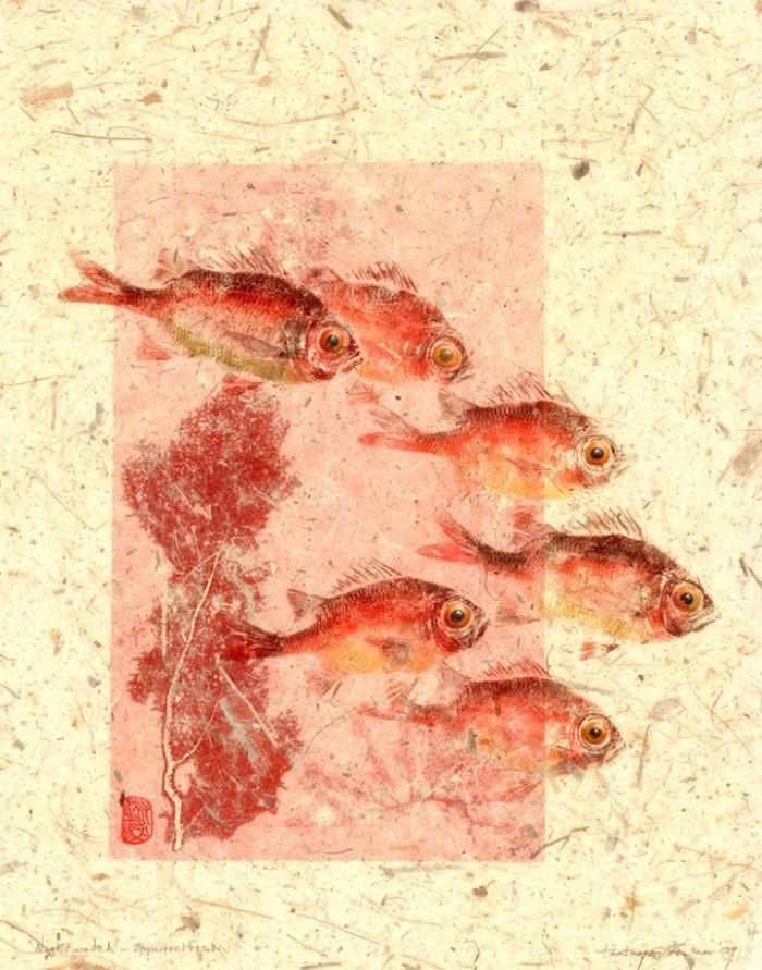 طباعة السمك بالسمك