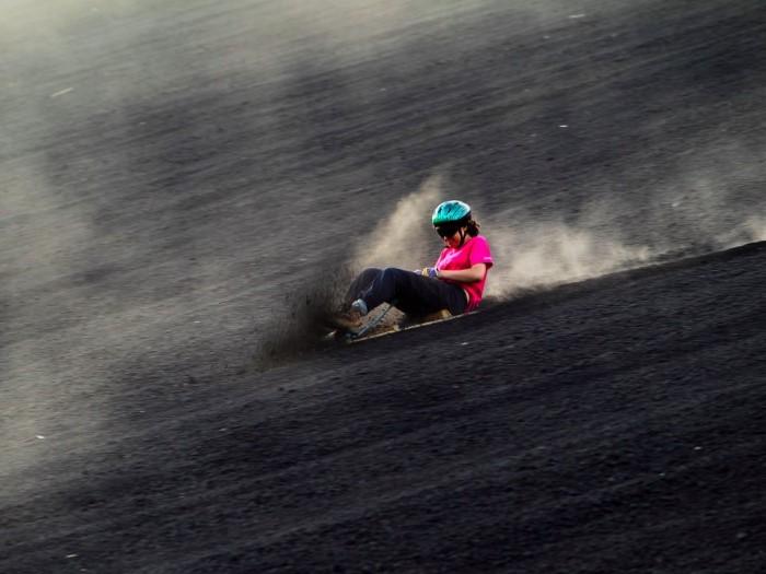 التزلج على جبال البركان