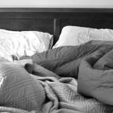 سرير غير مرتب