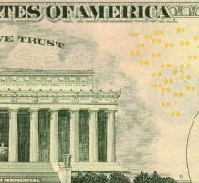 microprints of USA Dollars