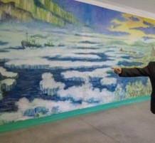 Turns Russian School into a Veritable Art Gallery