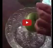 فيديو غسل التفاح