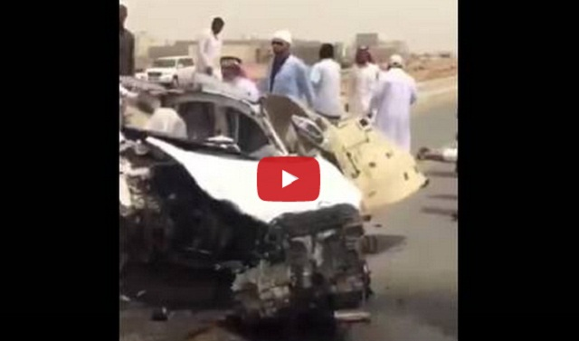 فيديو حادث سيارة