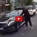 فيديو تحطيم سيارة