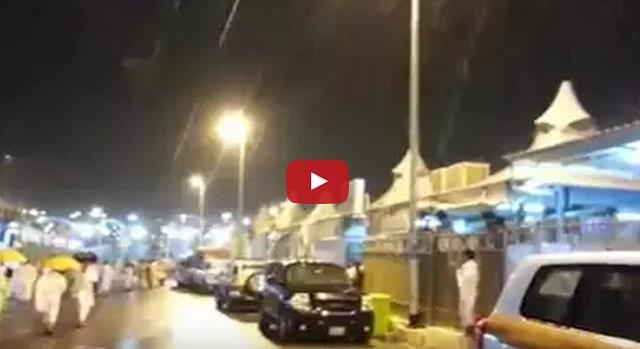 فيديو أمطار منى