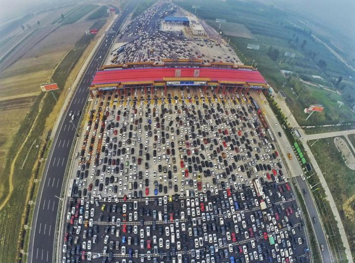 ازدحام مروري بالصين