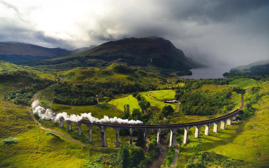قطار بخاري باسكتلندا
