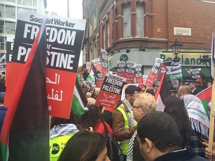 مظاهرات ضد الاحتلال