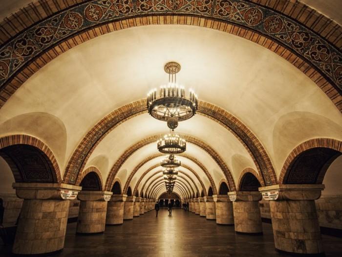 محطة مترو أنفاق في أوكرانيا