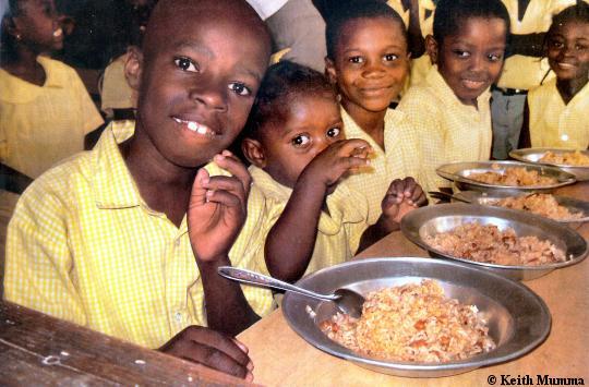 طعام مدارس هايتي