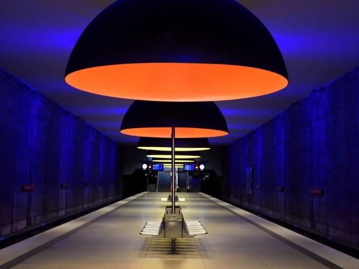 محطة مترو أنفاق في ميونخ